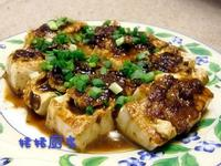 黄豆醬煎釀豆腐