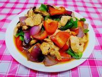 家常菜~三色椒炒雞胸肉