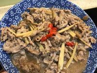 炒薑絲牛肉 火鍋肉片