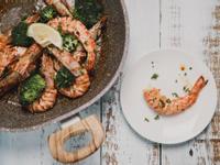 低醣料理 <海鮮> 西班牙風味蒜炒明蝦