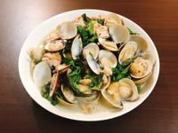 塔香蛤蜊炒雞肉