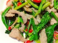 辣炒芥蘭松阪豬肉片