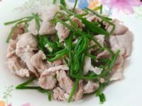 水蓮炒豬肉~簡單快速健康料理