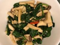 菠菜炒菇菇