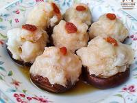 香菇鑲蝦球。簡易電鍋宴客菜/年菜