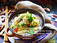 柑仔蜜白菜豆腐卵湯