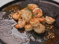 低醣料理 <海鮮> 蒔蘿香煎白蝦、干貝
