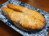 水波爐料理~烤鮭魚