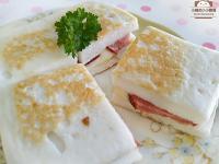 起司火腿鱈寶三明治