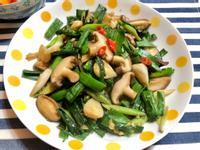 蒜苗炒鮮香菇