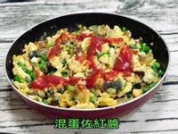 混蛋佐紅醬(水波爐料理)