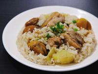 地瓜栗子雞腿炊飯