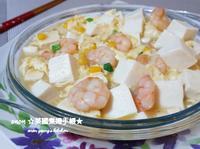 滑蛋蝦仁玉米燴豆腐 家常菜🍚新手晚餐