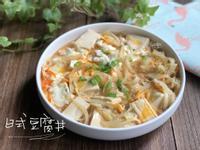 日式豆腐丼-手繪食譜