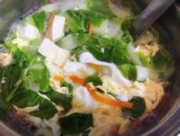小白菜豆腐蛋花湯