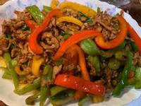 家常菜:沙茶青椒炒肉絲