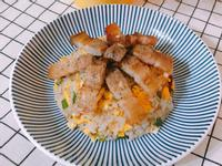 家常料理-自製鹹豬肉炒飯