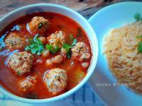 番茄燉雞肉丸