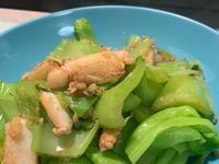 蟹肉炒芥菜(長年菜)
