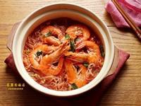 [鮮蝦粉絲煲]家常菜 簡單料理