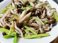 香芹炒鴻喜菇