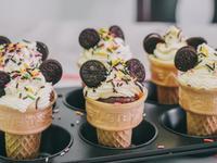 米奇造型冰淇淋杯子蛋糕