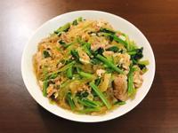 菠菜豬肉炒冬粉