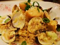 鮮蛤蜊干貝燉飯