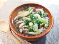 鮮菇蔥雞湯
