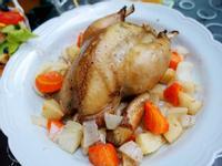 烤全雞。聖誕節大餐自己做