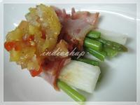 甜蜜蜜昱光廚房 ✎手作-02 ✿蘆筍山藥培根卷佐鳳梨洋蔥醬✿