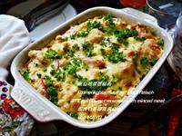 烘白花菜佮絞肉