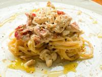 義式料理 <雞肉> 奶油培根雞肉義大利麵