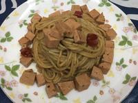 青醬素火腿義大利麵(葷食)
