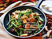 豆腐炒敏豆佮蘑菇