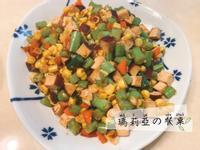 醬燒豆干玉米四季豆末~快速上桌!