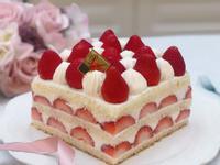 草莓方型蛋糕