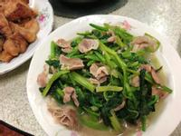 超簡單懶人料理:菠菜炒豬肉