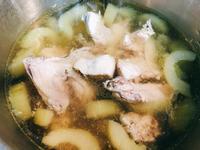 蔭冬瓜大黃瓜雞湯/一指搞定電鍋料理