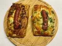 丹麥熱狗酥-蔥抓餅做點心
