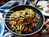 青蘆筍炒雞肉條