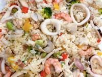 蘑菇白醬海鮮燉飯