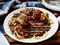 豬排佮Biiru蔥頭醬