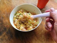 超簡單寶寶料理:蝦仁蔬菜蛋炒飯