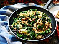 菠稜仔菜炒米粉佮豬肉條