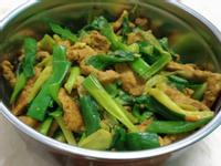 薑黃咖哩豬肉絲炒蔥