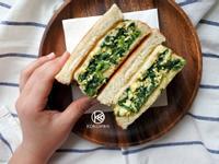 菠菜厚蛋起司三明治