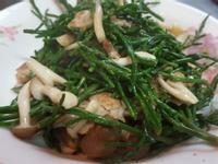 鴻禧菇炒海蘆筍