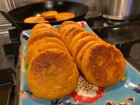 紅蕃薯糯米餅