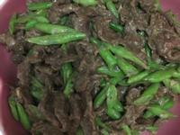 四季豆炒牛肉